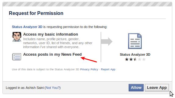 Facebook legitimate app